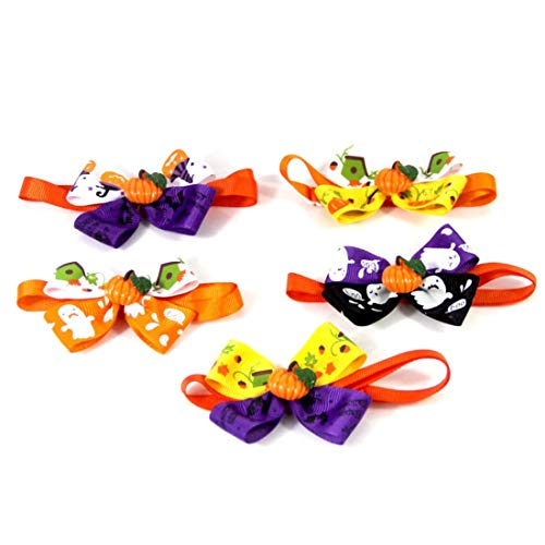 5個セット ペット首輪 ハロウィン パーティー 小型犬 猫用 調節可能 かわいい おしゃれ