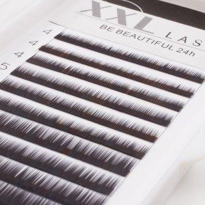 Cils droits sans courbe pour sourcils, reconstruction et extensions pour sourcils, 1 boîte de 12 rangées de longueurs différentes pour épaissir et allonger les sourcils, faux sourcils, Color noir