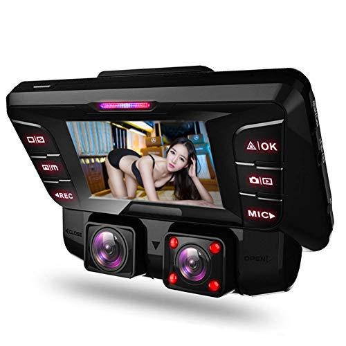 Dashcam,4K WiFi Dashcam Auto Vorne Hinten Dual Kamera mit 256 Gb Sd Karte Infrarot Nachtsicht Bewegungsmelder Akku Parküberwachung,Autokamera Tiberwachung Recorder
