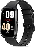 FITVII Fitness Tracker, Heart Rate Blood Pressure Monitor Activity Tracker, 1.57'' Touch Screen Calorie Step Counter IP68 Waterproof Watch with Weather Sleep Monitor Music Control for Women Men Kids