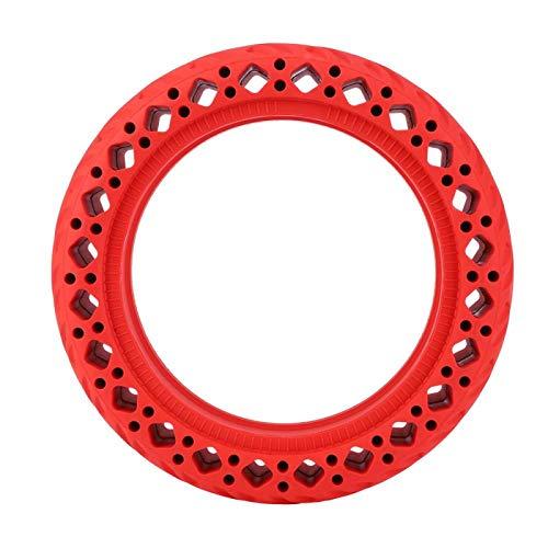Cerlingwee Neumático de Scooter antiexplosión Material de Goma de neumático de Scooter de 8,5 Pulgadas para Accesorios de Scooter eléctrico de neumático de Bicicleta eléctrica(Red)