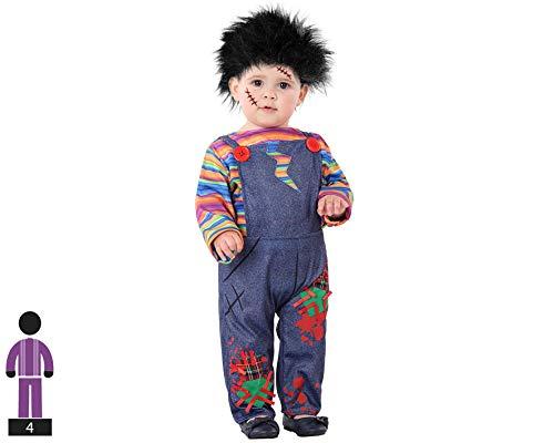Atosa-61253 Atosa-61253-Disfraz Muñeco-Bebé niño, Color gris, + 24 Meses (61253 , color/modelo surtido