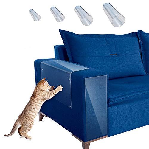 Peralng Schutz für Katzen, 8 Stück Sofa-Schutz gegen Kratzer, mit 40 Schrauben, Kratzschutz für Katzen, Sofaschutz, Türschutz