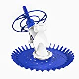 PAXCESS Suction Pool Cleaner Pool Vacuum Cleaner with Powerful Suction Side,Climb Pool Wall,Automatic Suction Sweeper with 16pcs Hoses for In Ground Swimming Pool with Pump,Easy Assemble