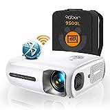 YABER Pro V7 9500L 5G Vidéoprojecteur WiFi Bluetooth Full HD 1080P , 6D Correction Auto de la Distorsion Trapézoïdale et 4P/4D ,Zoom Infini, Projecteur de Portables HD 4k pour pour iOS/Android etc.