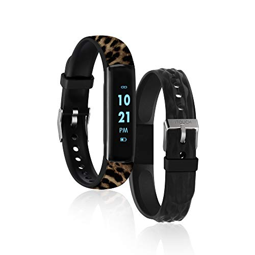 iTouch Slim Fitness Tracker with Heart Rate Monitor, Step Tracker, Calorie Tracker & Sleep Tracker. Waterproof Fitness Watch for Women & Men, Android...