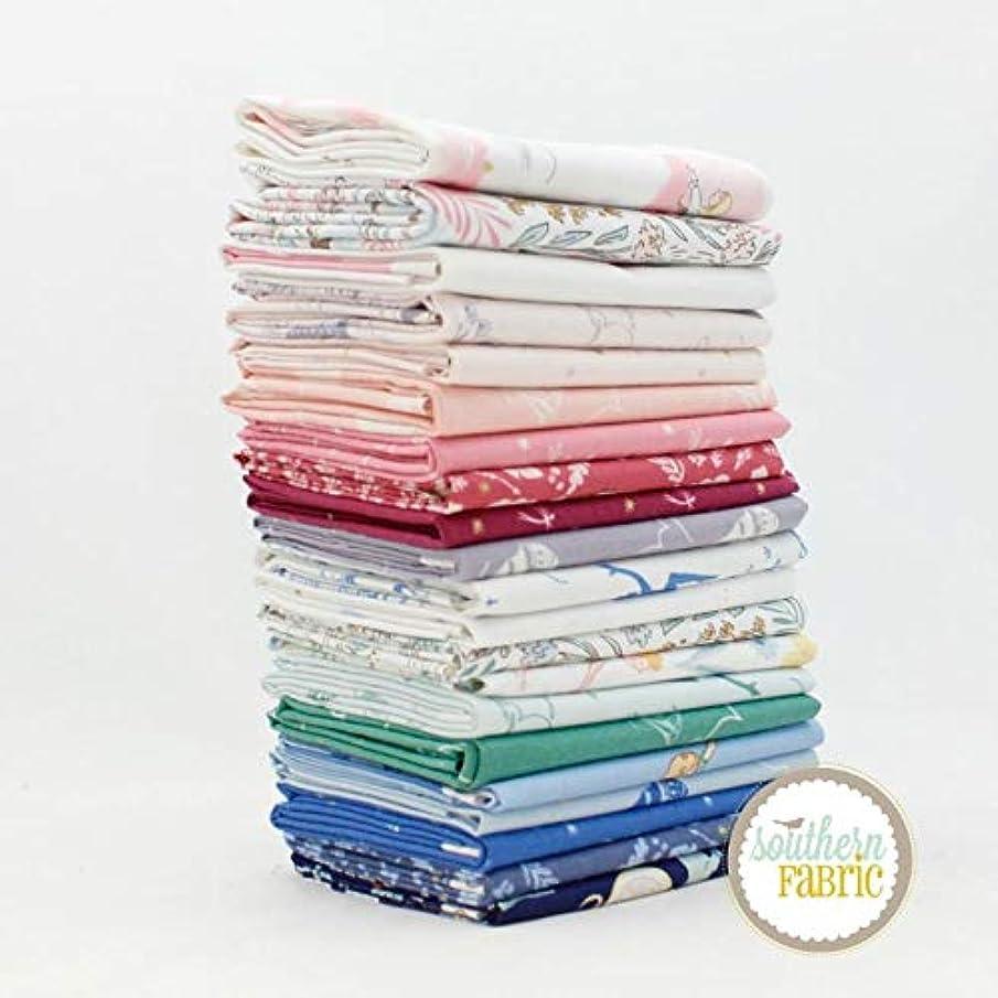 Michael Miller Peter Pan Fat Eighth Bundle (21 pcs) by Sarah Jane 9 x 21 inches (22.86cm x 53.34cm) Fabric cuts DIY Quilt Fabric