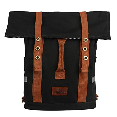 TOURBON Canvas Convertible Backpack Panniers