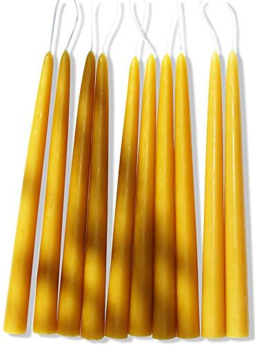 TAFELKERZEN aus 100% IMKER BIENENWACHS - 10 Kerzen aus der Schwarzwälder Kerzenmanufaktur. 20 cm hoch