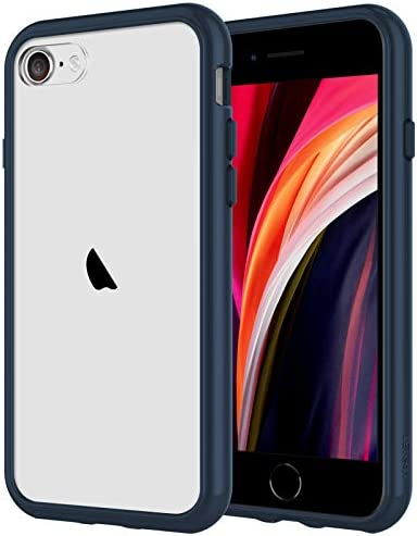 JETech Case for iPhone SE 2020 2nd Generation, iPhone 8 and iPhone 7, 4.7-Inch, Shockproof Bumper Cover, Anti-Scratch Clear Back, Clear