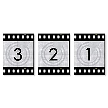 Big Dot of Happiness Movie - Hollywood Film Wall Art and Home Theater Room Decorations - Gift Ideas - 7.5 x 10 inches - Set of 3 Prints