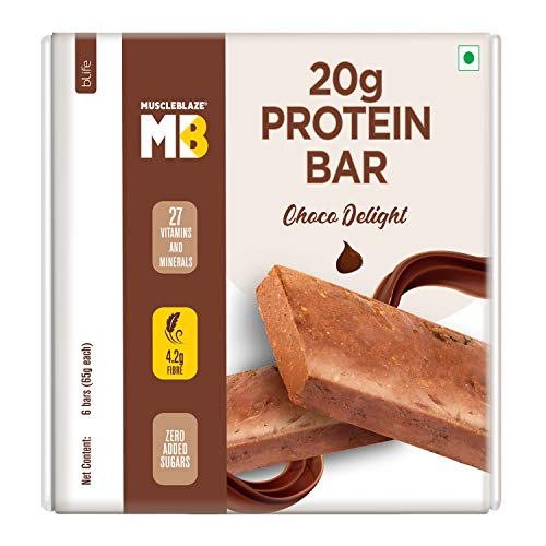 MuscleBlaze Protein Bar (22g Protein) (Chocolate Delight, 6 piece)