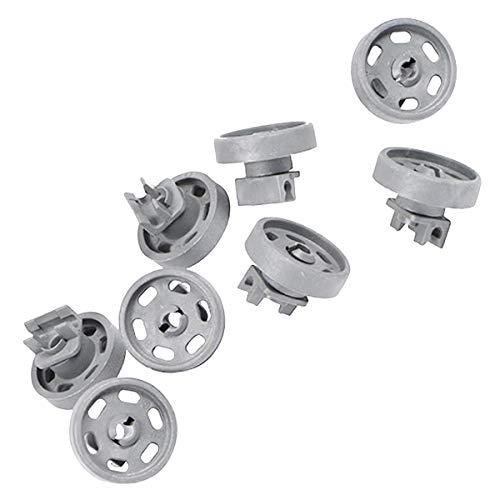 Kit de ruedas de cesta inferior para lavavajillas 407130030/7 Electrolux Faure, AEG, Arthur Martin Electrolux