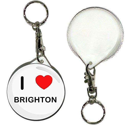 BadgeBeast.co.uk I Love Brighton - Llavero con botón de 55 mm