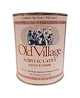 Old Village 1858695 サテン Rittenhouse レッド 水性アクリル ラテックス ペイント44 1クォート - 4個入りケース