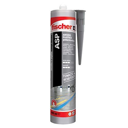 Fischer ASP Grigio, Adesivo sigillante tenace e resistente per giunti a pavimento, in facciata, condotte, lamiera e carrozzeria. Cartuccia in alluminio 290 ml, 544917