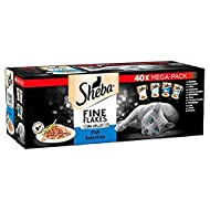 Sheba Fine Flakes Cat Pouches Fish Collection in Jelly 40x 85g
