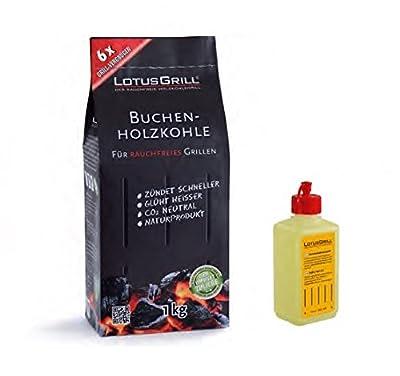 Set Lotus Grill - Lighter gel 200ml + Charcoal 1 Kg