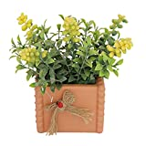 blueship Simulación flor portátil imitación pistachos planta con maceta anti-deformación realista mirando amarillo