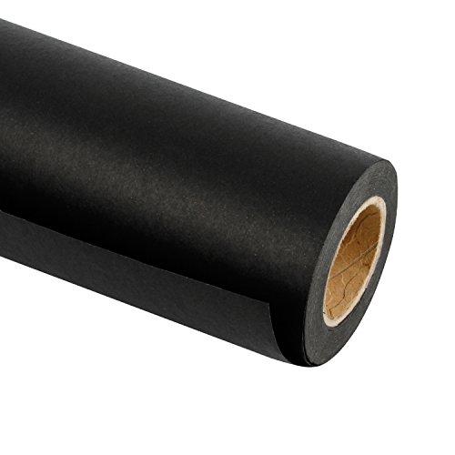RUSPEPA Schwarzes Kraftpapier - Natürliches Recyclingpapier, Kraftpapierrolle Ideal für Kunsthandwerk, Kunst, Kleine Geschenkverpackungen, Verpackung, Post, Versand und Pakete - 91.4 cm x 30 m