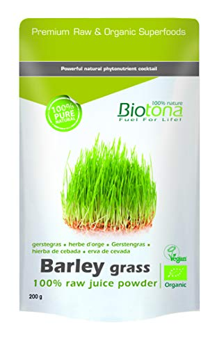 Biotona Barley grass raw juice powder, 1er Pack (1x 200g)