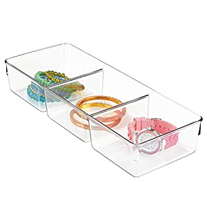 InterDesign Linus Non-Slip Multipurpose Plastic Drawer Organizer for Clips, Stables, Cutlery, Gadgets, Office Supplies… 4 41+Y03py3DL. SS300
