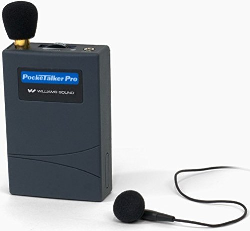 Williams Sound PKT PRO1-2 Pocketalker PRO System Amplifier with Single Mini Earbud, 100 Hours battery life, Adjustable volume/internal tone control, works with a variety of earphones and headphones