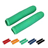 Motorcycle Front Fork Boots Shock Absorber Covers Protector Rubber Dust Gator Guard Gaiters For KLX450 KLX250 KLX110 KX250F KX450F KX125 KX250(Green)