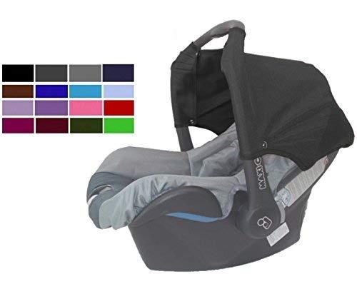 Sweet Baby ** ROT ** Universal Verdeck/Dach für Maxi Cosi Citi SPS Babyschale Gruppe 0+ als Sonnenschutz/Windschutz/SonnenDach/Sonnenverdeck