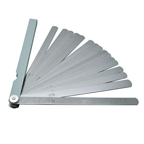 "Rannb Feeler Gauge 0.05mm - 1mm Gap Measurement Tool 20-Leaf 200mm/8"" Length"