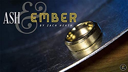 Ash and Ember Gold Beveled Größe 9 (2 Rings) by Zach Heath - Trick