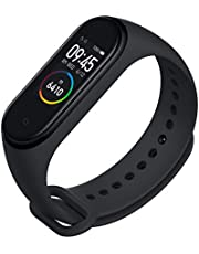 MI Polycarbonate India's No.1 Fitness Band, Up-to 20 Days Battery Life, Color AMOLED Full-Touch Screen, Waterproof with Music Control and Unlimited Watch Faces Smart Band 4 (Black)