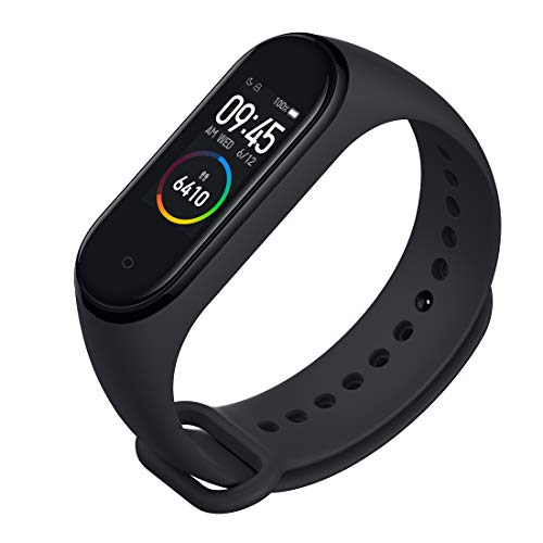 Mi Smart Band 4 – 0.94-inch AMOLED Color Display, 20 Days Battery Life, Unlimited Watch Faces, 5ATM Water Resistant, Music Control