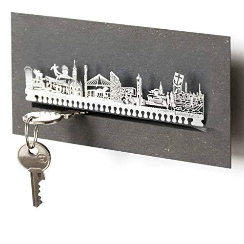 Ludwigshafen-Skyline Schlüsselbrett Souvenir in der Geschenk-Box