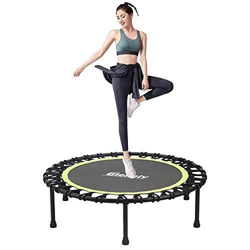 Gielmiy Fitness Trampolin Ø ca 101cm ,Outdoor/Indoor Mini Trampolin, Sprungtraining Aerobic Rebounder Trampolin,Gewicht bis 152kg