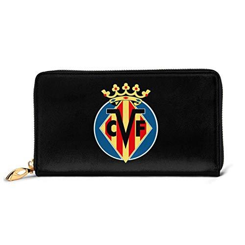 ビジャレアルcfフットボールクラブ 旅行や買い物に便利な革の財布防水性と耐久性