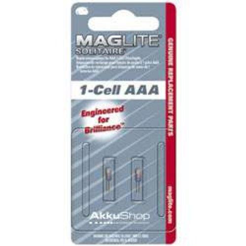 Maglite LK3A001 2er Pack Ersatzbirne Bi-Pin Solitaire