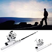 HDEポケットサイズ ペン型 折りたたみ可能 釣り竿&回転リールコンボ
