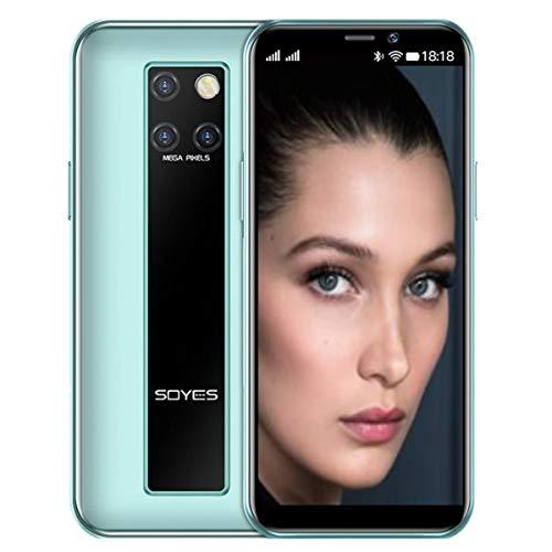 Android 9.0搭載 ●4G LTE ミニモバイル 3.46 inch IPS液晶 ●Bakeey SOYES S10-H Global Version ●AI Dual 5MP+前 2MP Camera搭載 ●MTK6580M Quad Core 1.28Ghz ●DSDS 4G LTE Dual SIM Slot ●3GB RAM+32GB/64GB ROM ●AI顔認証アンロック ●USB Type-C搭載 (RAM 3GB + ROM 64GB, Ocean Cyan)