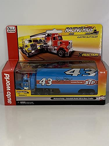 Peterbilt Modelo 359 Race Trailer Racing Rigs STP HO Slot Car Auto World SC270/48