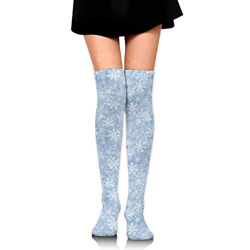 Calcetines altos para mujeres y niñas, alce de abeto y alce, bola de Navidad, muslo largo, 60 cm