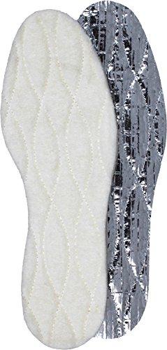 normani Alu Einlegesohlen mit Lammwollauflage - idealer Kälte- / Nässeschutz Größe 48