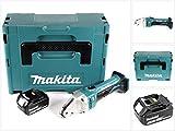 Makita DJS 161 T1J 18 V Li-Ion Akku Blechschere im Makpac + 1 x 5,0 Ah Akku - ohne Ladegerät