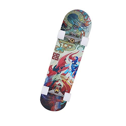 Skateboard Grip Tape Skateboards 31Inch Skateboards for Adults U Teenagers,Maple Cruiser Skate Board, Including Truck, PU Wheels, Back Pattern for Skateboard,Rollerboard,Scooter ect (Color : F)