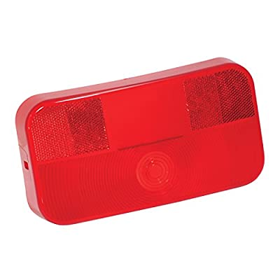 Bargman Replacement Part, Taillight Lens Red with License Bracket