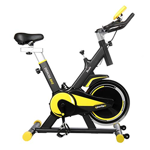 Indoor Cycling Bike Stationary, Doufit EB-09 Exercise Bike for Home Gym Workout Use with 40 Lbs Flywheel, Silent Belt Drive, Comfortable Seat Cushion and Tablet Holder