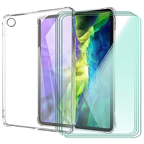 WANCJX Transparente Tablet Funda Compatible para Lenovo Tab M10 HD 2nd Gen (10.10 Pulgada) Carcasa + [4 Pieza] Cristal Templado Film,Antigolpes Caso Cover,HD Cristal Templado Membrana-TM