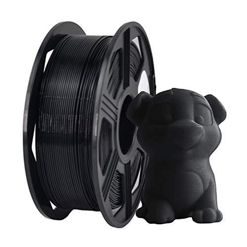 YOYI ABS Filamento 1.75mm, Impresora 3D Filamento ABS 1.75mm 1kg Carrete, Precisión dimensional +/- 0.02mm (Negro)