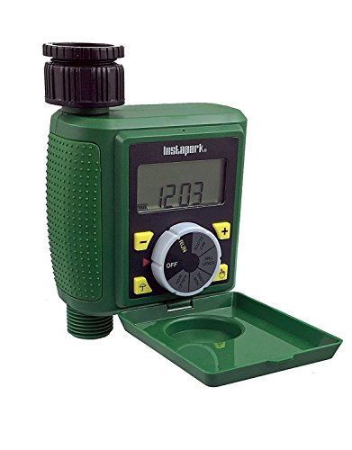 Instapark PWT-07 Outdoor Waterproof Digital Programmable Single Outlet Automatic On Off Water...
