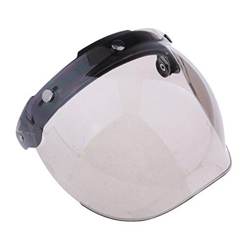 Visiera Casco Bubble Protettivo Stile Retrò 3 Bottoni Ribaltabile Motocicletta - Colore # 2
